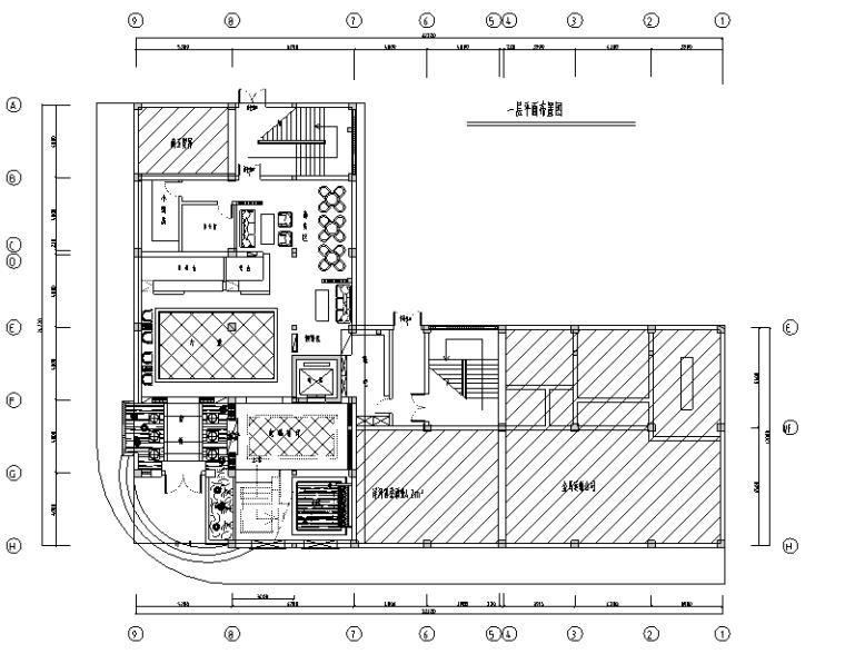 混搭风格足浴店设计施工图(附效果图)