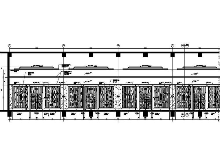 [中山]新中式特色风情酒店宴会厅室内设计施工图-[中山]新中式特色风情酒店宴会厅室内设计立面图