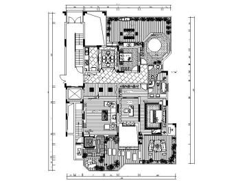 [深圳]东南亚异域风情样板间室内设计施工图(含效果图)