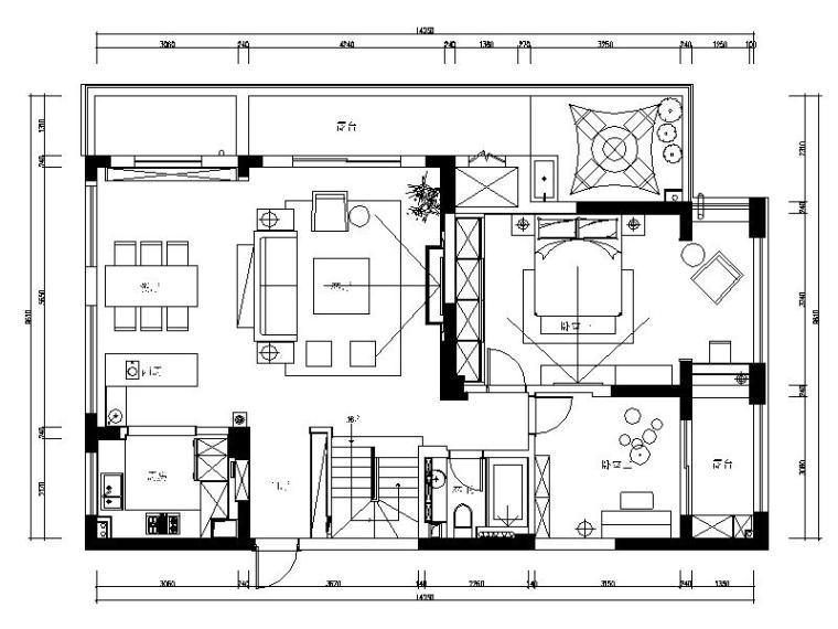 [杭州]超豪华精品港式别墅室内设计施工图(含高清效果图)