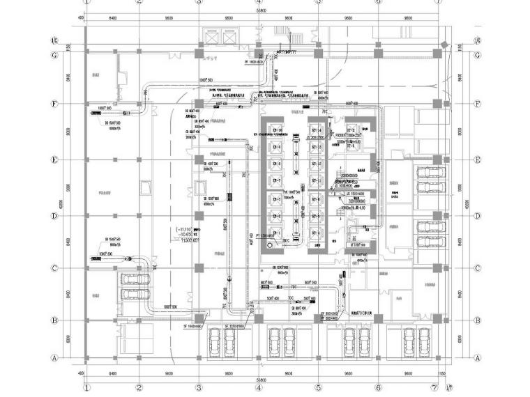 [甘肃]超高层甲级写字楼暖通全系统设计施工图(冷热源设计)