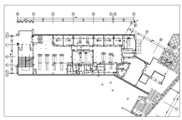 [重庆]现代风格售楼处概念方案设计施工图(附效果图+物料表)-隔墙尺寸图