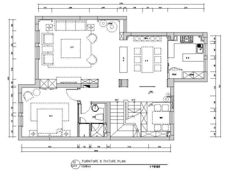 [江苏]现代中式260平米住宅设计施工图(附效果图)