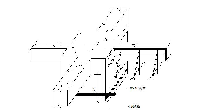 模板施工方案(组合钢模板)