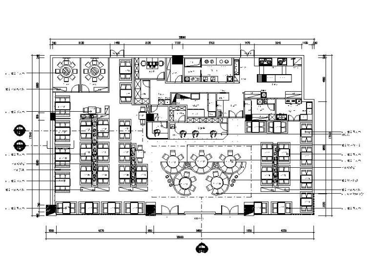 [厦门]整套工装火锅店完整施工图(含效果图)