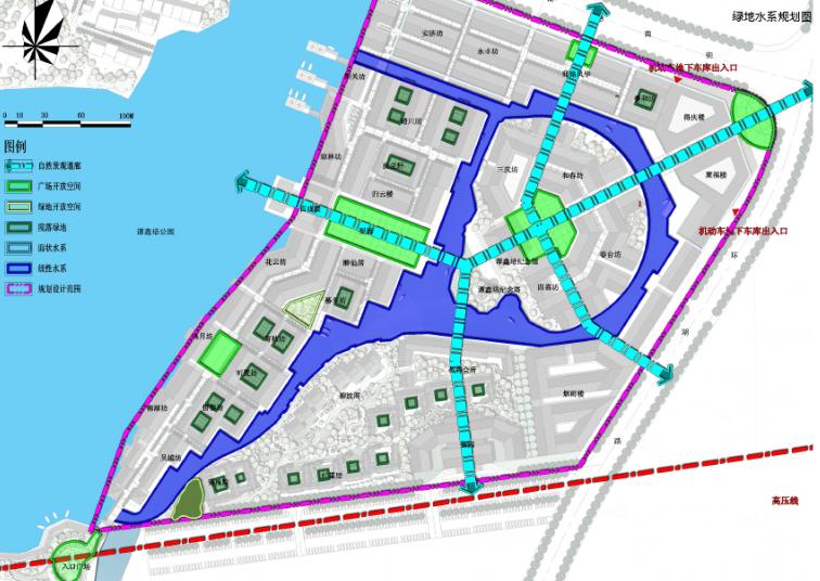 绿地水系规划图