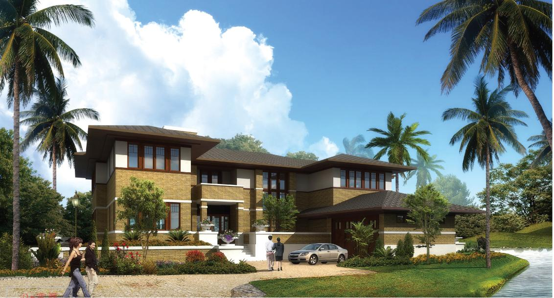 [方案][广东]18套两层新中式风格别墅建筑设计方案文本 精图片