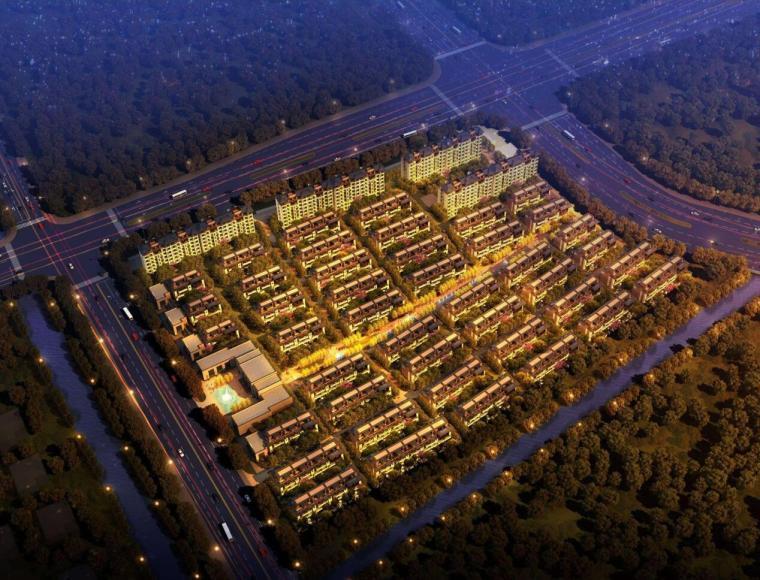 [上海]洞泾上坤旭辉墅褐石建筑模型设计(水石国际)