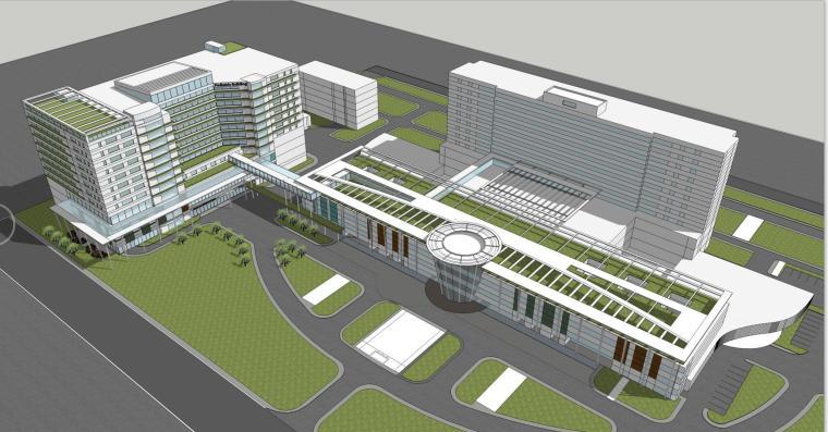 某妇女儿童医院建筑方案设计文本(CAD+SU+文本)