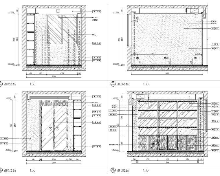 [北京]万科翡翠长安现代中式轻奢样板间设计方案+CAD全套施工图+物料书+效果图_11