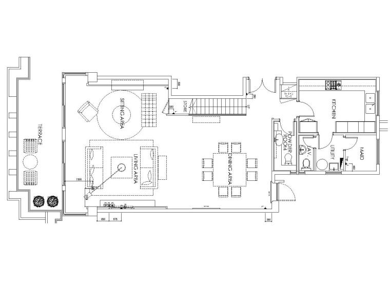 香港浅水湾样板间装修全套施工图(附实景照片)