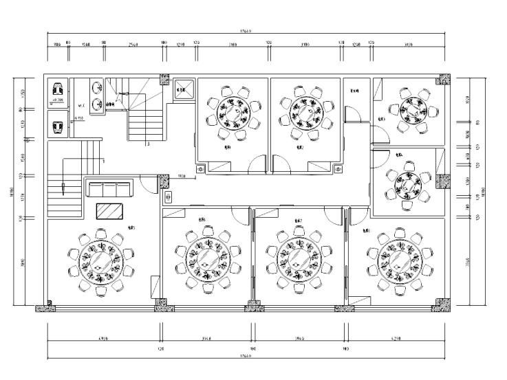 [四川]中式风格川菜馆室内装修设计施工图
