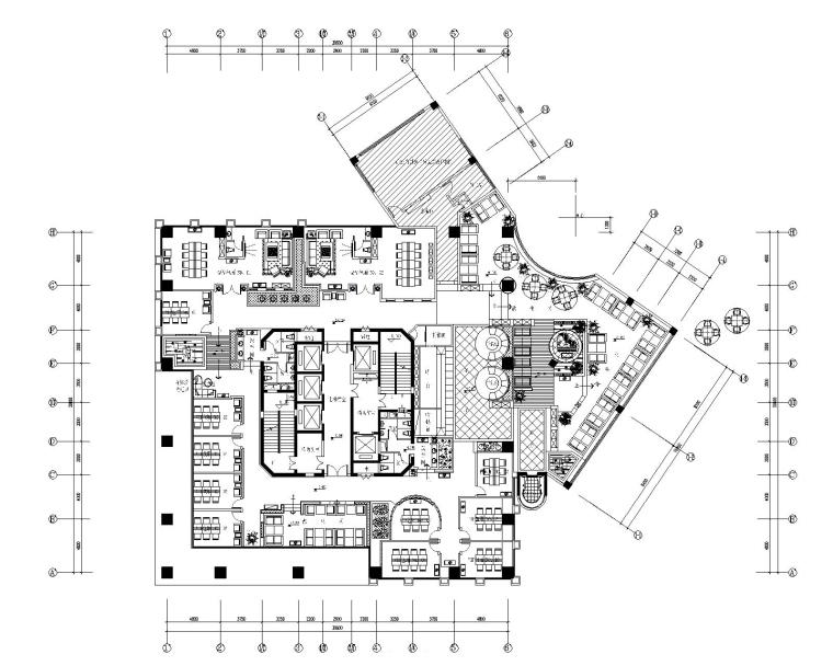 欧式古典风格咖啡厅装修全套施工图(附效果图)