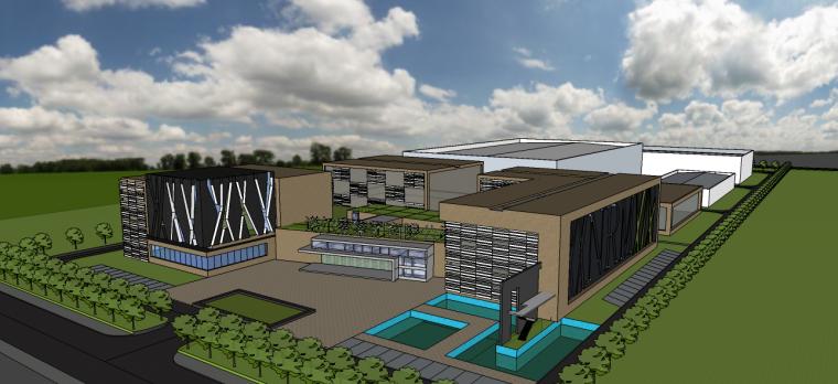 诺尔曼公司厂房设计su模型