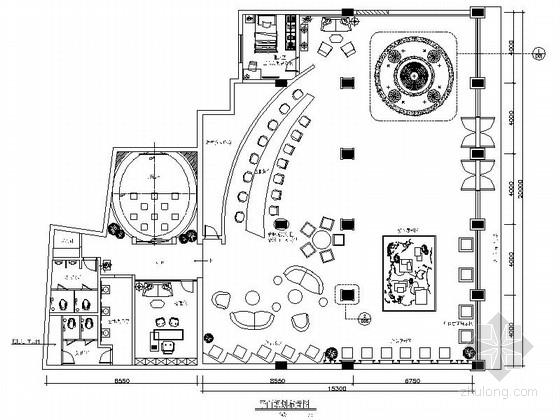 [瑞金]新亚洲别墅群高档售楼处室内装修施工图(含效果)
