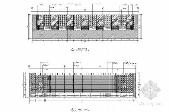 [苏州]现代教育理念实验小学装修施工图(含电气及给排水图) 报告厅立面图