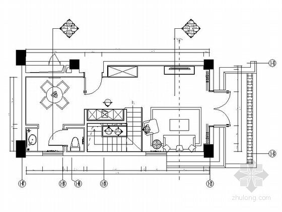 [西藏]LOFT样式两层户型酒店客房室内施工图