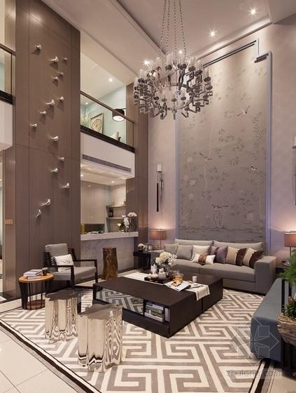 [杭州]时尚清新又精致的别墅设计方案(含实景图)-时尚清新又精致的别墅设计方案(含实景图)方案图
