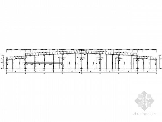 [湖北]局部二层门式刚架厂房结构施工图