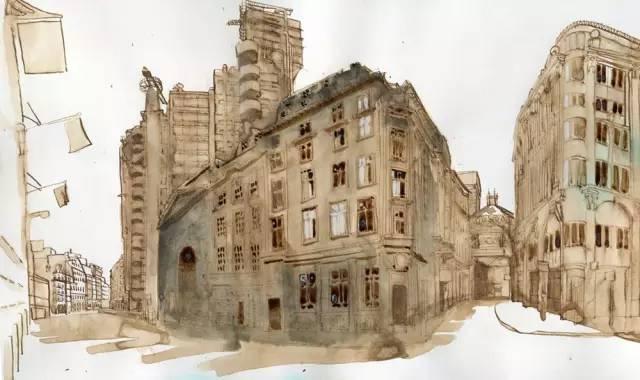 建筑手绘,国外设计师画的就是好看!_5