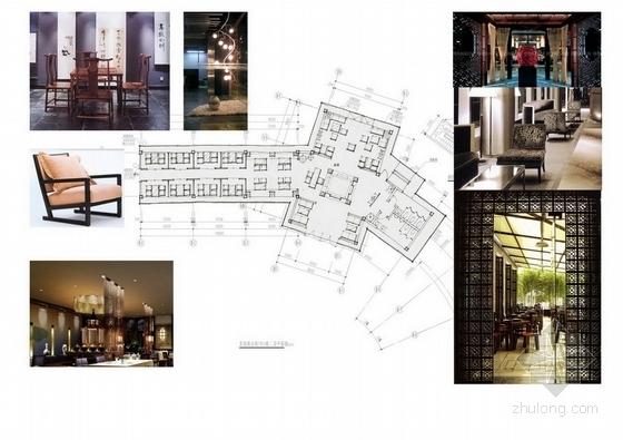 [深圳]中式风情文化主题快车旅馆室内装修方案图材料表