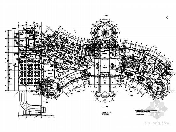 [河北]投资5.5亿国际五星级豪华欧式商务酒店装修施工图(含效果)