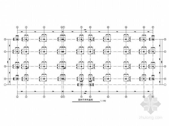 [内蒙古]两层框架结构生产系统综合楼结构图