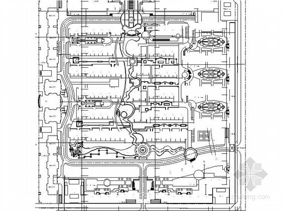 新古典住宅区规划总平面图