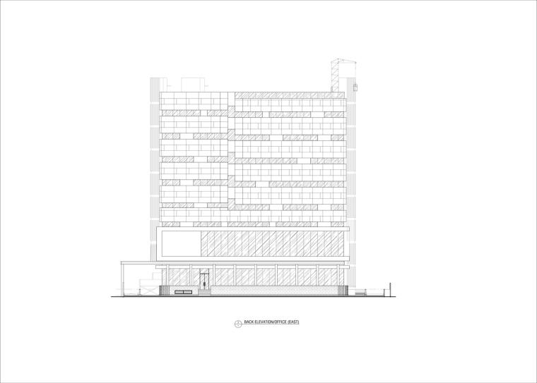 九转回环、流畅现代的车展大厅及办公楼设计_18