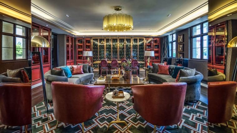 布鲁盟设计-天恒半山世家别墅现代奢华样板间高清实景图