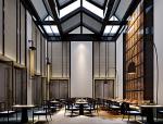 现代中式宽敞餐厅3D模型下载