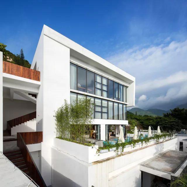 一座纯现代主义风格极简建筑,七星湾御风者俱乐部