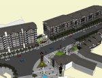 商业街建筑,中式风格,八层\中式风格商业街.skp