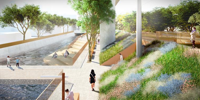 台中绿色走廊的线性公园