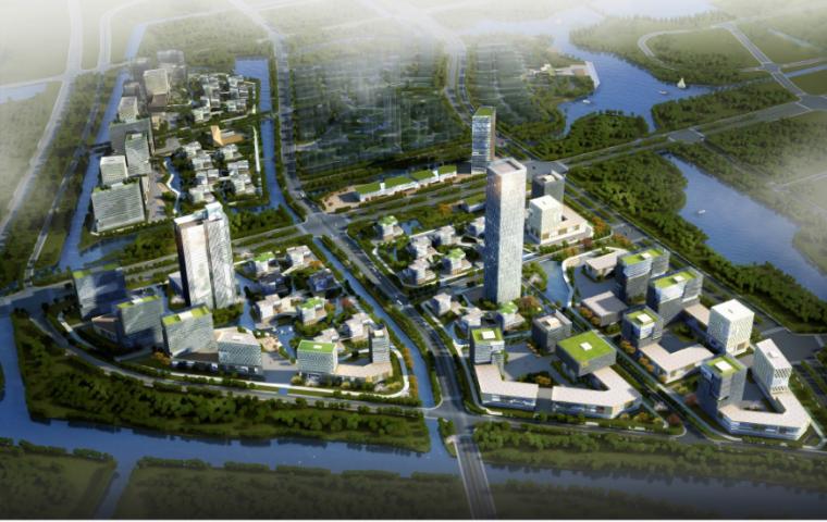 高层现代风格通州软件园项目城市设计方案