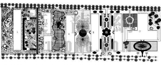某学校公寓绿化设计图纸