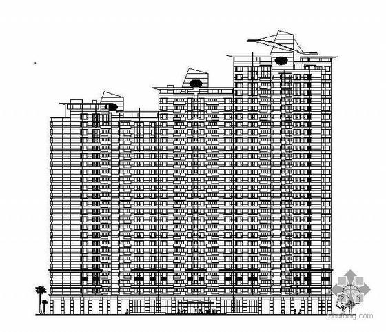 [深圳市]某住宅小区规划国际投标优秀方案及建筑结构水电施工图