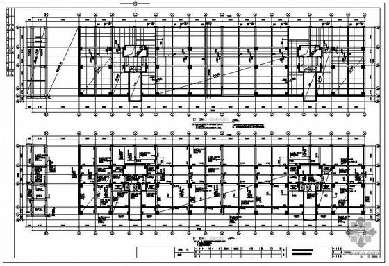 某高层框支剪力墙梁式转换住宅结构图