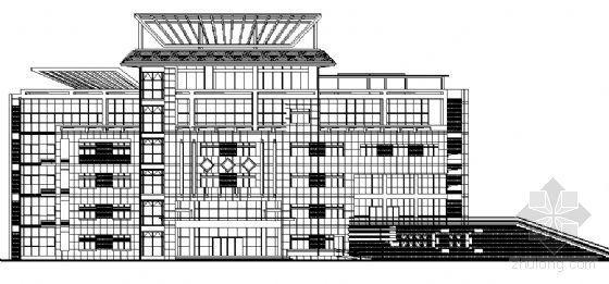 江苏某五层文化馆建筑方案图