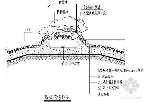 岛状花槽详图