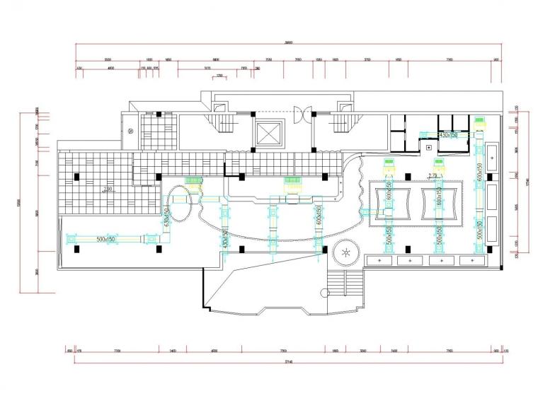 vrv多联机空调系统设计资料下载-小型咖啡馆空调通风系统设计施工图