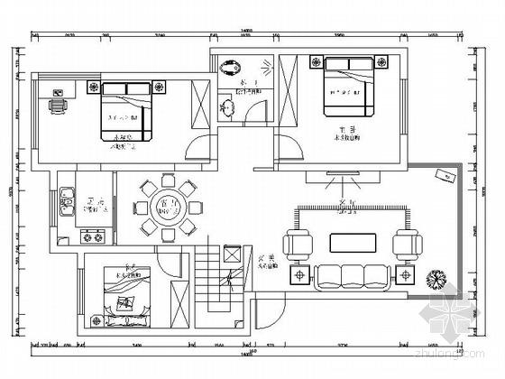 禅意中式复式样板间装修施工图(含效果及报价表)