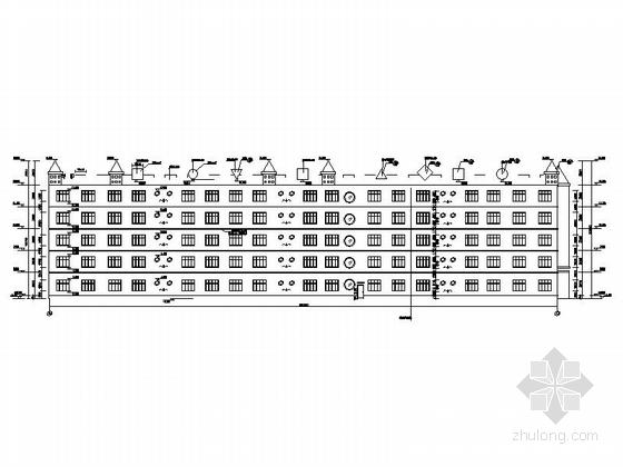 五层现代风格幼儿园建筑立面图