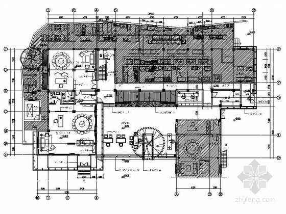 [北京]极致特色古典会所室内改造设计装修施工图(含效果)