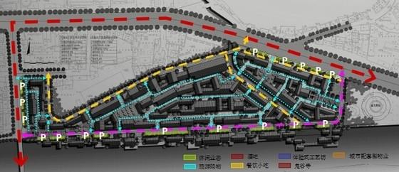 [湖南]风情古街景观规划设计方案-交通分析图