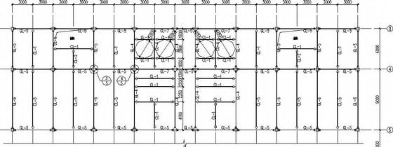 8度区4层钢框架+门式刚架结构施工图