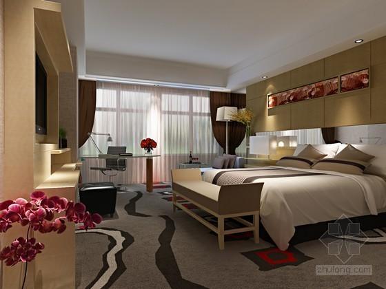 酒店时尚客房3D模型下载