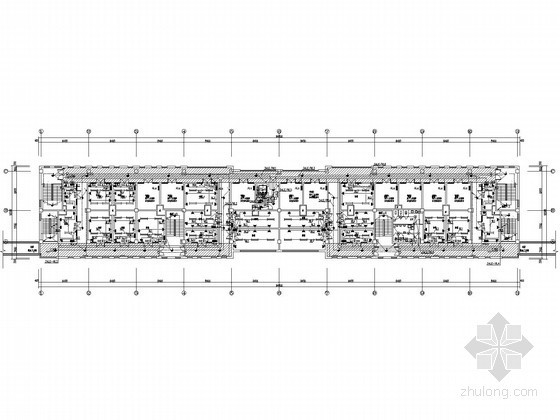 [内蒙]两栋多层商业办公楼全套电气施工图纸(含完整电气计算书)