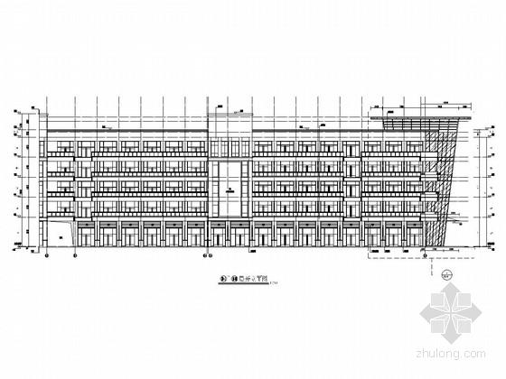 [福建]46000平住宅小区外立面玻璃幕墙工程图纸(包括钢结构装饰架施工图)
