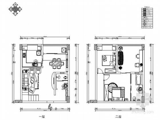 [重庆]现代风格轻松愉快居室施工图(含效果图)